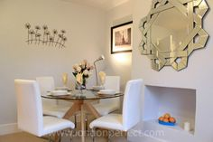 The sleek dining area of the Marlborough, one of our vacation rental properties in Notting Hill, #London. #LondonPerfect