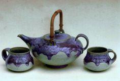 M.Wein Lilac/teal tea set