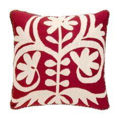 Red Vintage Suzani Pillow