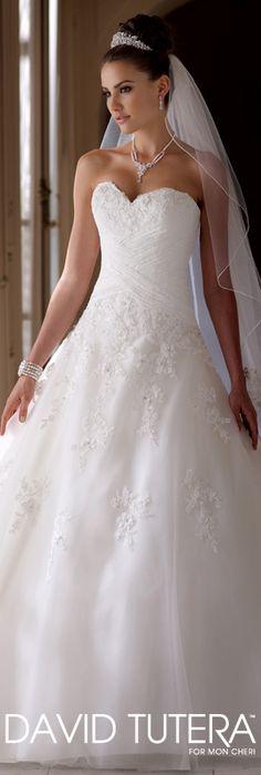 The David Tutera for Mon Cheri Wedding Gown Collection - Style No. 113219 Millie davidtuteraformoncheri.com #weddingdresses #weddinggowns