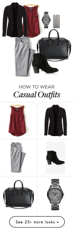 """""""casual friday"""" by kretals on Polyvore featuring Lands' End, Givenchy, New Look, Michael Kors, Express and Native Union"""