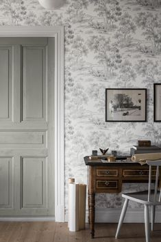 Falsterbo III - wallpaper patterns with vintage and rustic styling | Boråstapeter