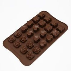 Candy Molds Silicone, Silicone Chocolate Molds, Chocolate Candy Molds, Plastic Molds, Silicone Rubber, Chocolate Diy, Chocolate Gift Boxes, Chocolate Fondant, Baking Chocolate