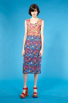 Overlay Floral Scoopneck Dress