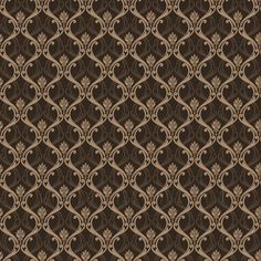 Dolls House Miniature Brown Classic Wallpaper Design | eBay