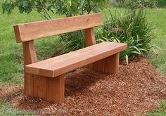solid sleeper memorial bench seat
