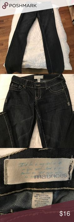 """Maurices dark blue skinny jeans 32"""" inseam. Size 8. Excellent condition. Maurices Jeans Skinny"""