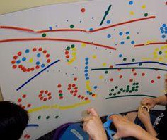Dots and lines... #GaleriAkal Untuk berbagi ide dan kreasi seru si Kecil lainnya, yuk kunjungi website Galeri Akal di www.galeriakal.com Mam!