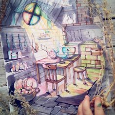 In the Kitchen. Interior Design with a Sprinkle of Fantasy. By Anna Shelmina.