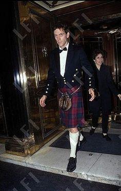 One of my favorite comic actors, Hugh Laurie in a kilt.  via Hugh Laurie and Me - Es una cuestión de piel. PARTE II - Hugh - Fotos