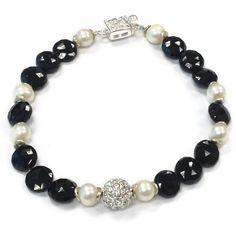 Black Spinel Bracelet Sterling Silver Jewelry by jewelrybycarmal, $62.00