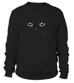 3D Black Cat Face Graphic Design Gift For Cat Lover T Shirt
