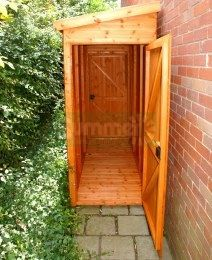 Narrow Storage Shed Shiplap Pent Roof Small 59 Two Doors Bike