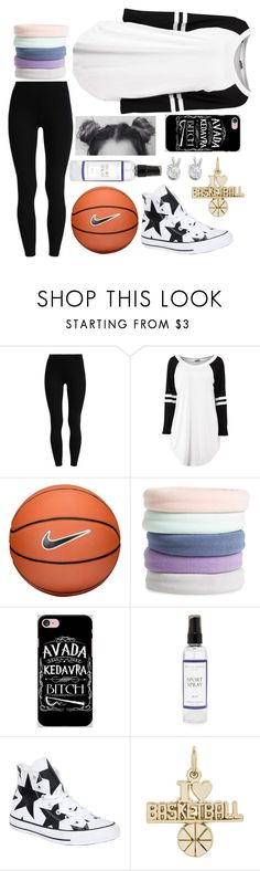 """Ready 4 BasketBall"" by candy-without-name ❤ liked on Polyvore featuring NIKE, L. Erickson, Samsung, The Laundress, Converse, Rembrandt Charms and Rock 'N Rose"