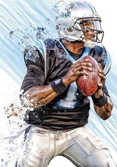 Cam Newton,Quarterback for the Carolina Panthers,he is my favorite football player.my mother was very against me picking this ,she is a Steelers fan i am not. Football Art, Football Memes, Sport Football, Fantasy Football, Football Players, Football Uniforms, Nfl Panthers, Carolina Panthers Football, American Football