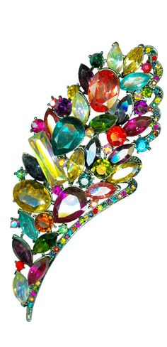 Trashy Diva Jeweled Floral Bouquet Pin