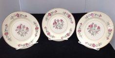 "3 Homer Laughlin Eggshell Georgian G3436 ""Rhododendron"" 6"" Bread Plate"
