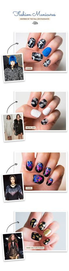 Fashion Manicures inspired by the Fall 2013 Runway | Nail Art | Nailspiration | Maniucre | Nail Trends