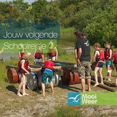 Vlotbouwen als activiteit tijdens een schoolreis op Terscheling. www.schoolreisnaarterschelling.nl