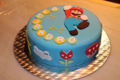 Mario Birthday Cake, Super Mario Birthday, Birthday Party Desserts, Super Mario Party, Cupcakes Super Mario, Bolo Super Mario, Mario Bros Cake, Beautiful Birthday Cakes, Cool Cake Designs
