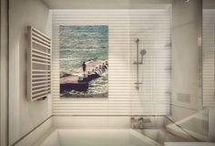 'Fearless dreamer' by Jacek Szycht/Glass print. Bathroom by #ProjektowePola.  #willalindego #home #art #gallery #photography #bathroom #interiordesign #interior #villeroyboch #hansgrohe #starck #axor #saloniceramica #glass #print #ceramica #spanish #tiles #architecture #interiordesigner #custom #design #wnetrza #projektowaniewnetrz #projekt #wnetrz #architekt #white #silver