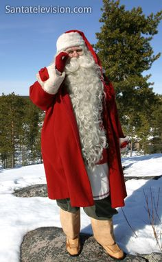 Santa Claus in Lapland at the end of winter