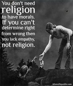Yes sometimes religion clouds your vision.  Be careful you are not too holy.