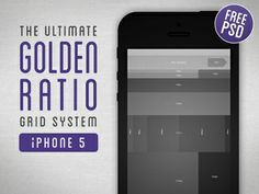 Golden Ratio Grid System for iPhone 5 Iphone Design, Ui Ux Design, Interface Design, User Interface, Tool Design, Layout Design, Information Architecture, Golden Ratio, Grid System