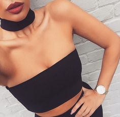 "Our ""Choker Crop"" top from alyannaclothing.com----- really want some chokers."