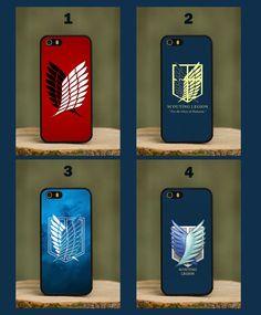 Attack On Titans Japanese Scouting Legion Logo Quote Phone Case Cover fits Apple iPhone 4 4s 5 5s 5c 6 6 plus Samsung Galaxy s3 s4 s5 mini s6 edge HTC m8 mini m9