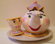 Mrs. Potts and Chip Cake - Kyrsten's Sweet Designs | Specialty Cakes and Cookie Favors