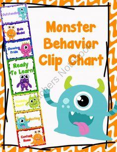Monsters Behavior Clip Chart - Behavior Management product from Amy-Alvis on… Monster Theme Classroom, Classroom Behavior, Future Classroom, Classroom Themes, Classroom Organization, Classroom Discipline, Classroom Procedures, Behavior Clip Charts, Behaviour Chart