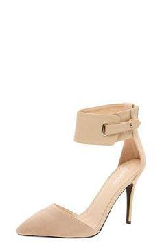 Mia Buckle Ankle Strap Heels