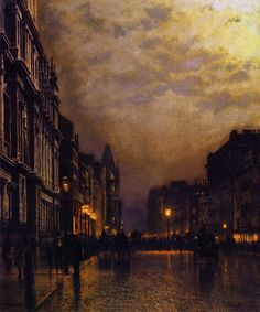 John Atkinson Grimshaw London, Piccadilly at Night - The Largest Art reproductions Center In Our website. Low Wholesale Prices Great Pricing Quality Hand paintings for saleJohn Atkinson Grimshaw Art Gallery, Night Painting, Landscape Paintings, Fine Art, Atkinson Grimshaw, Painting, British Art, Art History, Scenery