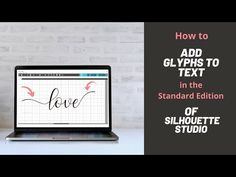 So you've bought a beautiful new font and you want to add some flourish. Accessing glyphs is easy with upgraded Silhouette Studio software. Silhouette Design Studio, Silhouette Curio, Silhouette Studio Designer Edition, Handmade Stationary, Letter Board, Letters, Silhouette Cameo Tutorials, Studio Software, New Fonts