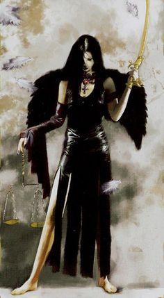 Justice - Dark Angels Tarot