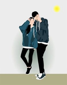 40 Super ideas for wallpaper couple iphone beaches Cute Couple Drawings, Anime Couples Drawings, Cute Couple Art, Anime Love Couple, Couple Cartoon, Cute Couples, Couples Images, Chibi Couple, Couple Wallpapers