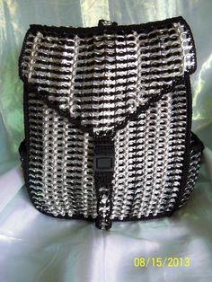 Black Poptab Backpack