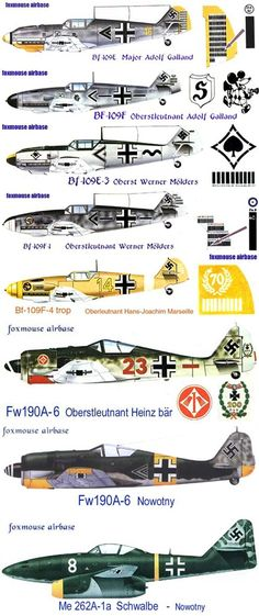 Military Aircraft - German Nazi WWII Fighters