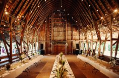 Beautiful wedding barn