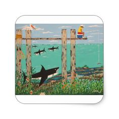 #fishing - #Fish Not Biting Today. Square Sticker