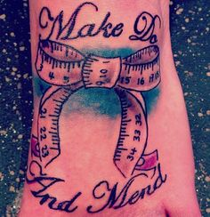 """""""Make do and mend"""" I love this, good for eating disorder awareness. simply beautiful."""