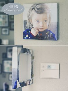 Hidden Alarm Panel by The Paper Mama// perfect for the climate control box!