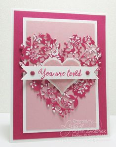 Grateful Bunch stamp set - SU - Bloomin' Hearts Thinlits - Valentine, love