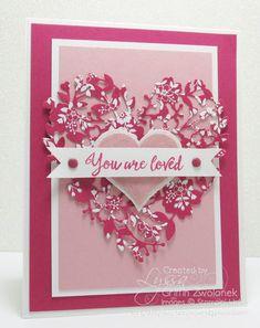 Grateful Bunch stamp set - SU - Bloomin' Hearts Thinlits - Valentine, love