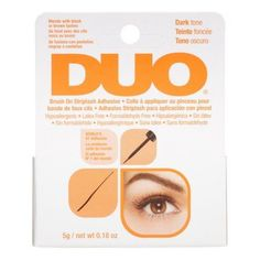Duo Striplash Brush On Adhesive, Dark, 0.18 oz, Black