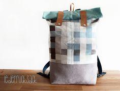 Rucksack aus Leder, aus recycelten Materialien / big hipster backpack, upcycling, leather by halfbird via DaWanda.com