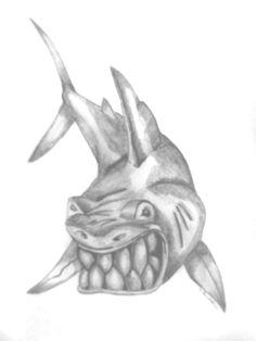 Big bite tattoo image