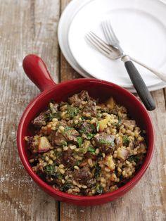 Cordero con ciruela y cebada perlada #recetas #gastronomia #cocina http://www.eblex.es/ver_recetas_sencillas.php?id_receta=140