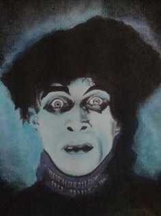 Conrad Veidt as Cesare, the somnabulist in Robert Wiene's 'Das Cabinet des Dr. Caligari', 1920 Gothic Horror, Horror Art, Horror Icons, Horror Films, Dr Caligari, Conrad Veidt, Silent Horror, Movie Makeup, Dark Fantasy Art